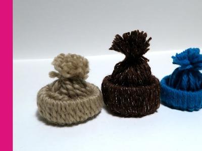 Mini czapeczka z włóczki (Mini hut with yarn, DIY)