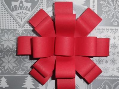 Efektowna kokarda na prezent. jak zrobić kokardę z papieru. paper bow