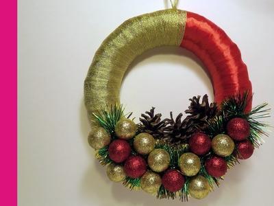 Wianek świąteczny na drzwi (Christmas wreath on the door, DIY)