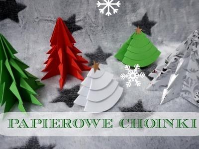 DIY Choinki z papieru - dwa sposoby | DzienBezKawyTV