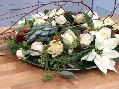 Sekunda dla Kwiatów - świąteczny wianek na stół (floristic DIY: Christmas wreath) S04 E05