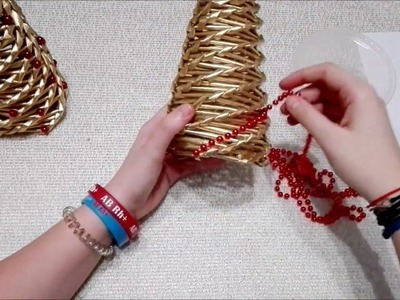 Choinka z wikliny papierowej ( How to make a Christmas tree)