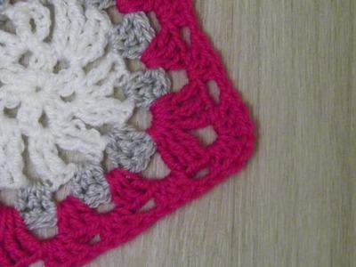 No 103# Kwadrat babuni na szydełku nr 1 - Granny square on crochet nr 1