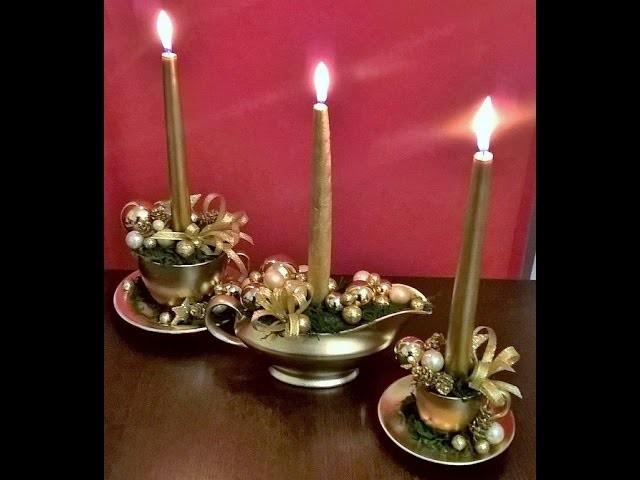 """JAK ZROBIĆ STROIK W """"LAMPIE ALLADYNA"""" I W FILIŻANKACH :)#Christmasdecorations"""