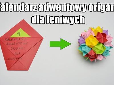 Kalendarz adwentowy origami dla leniwych