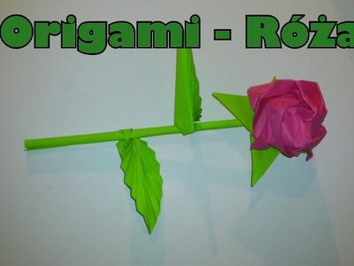 Origami - Róża (w końcu w HD)