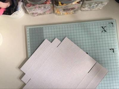 Pudełko na kartkę przy użyciu tablicy do bigowania tutorial | Co ja narobiłam!