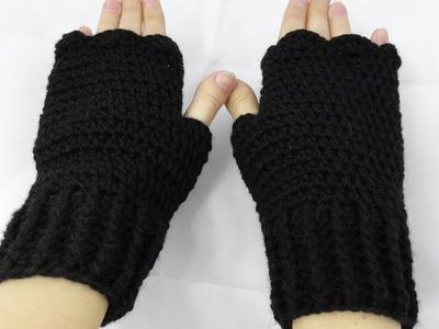 Rękawiczki bez palców na szydełku, mitenki na szydełku 4K Karolina Szydełko