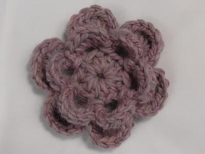 Kwiatek na szydełku róża broszka na szydełku 4K Karolina Szydełko