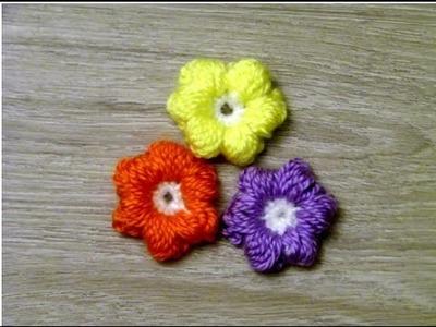 No 115# Bąbelkowe kwiatki na szydełku - Puff stich flower crochet
