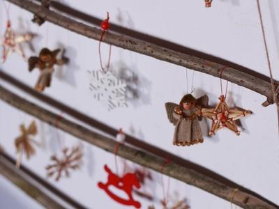 Choinka z patyków i sznurka, czyli dekoracje bożonarodzeniowe na ostatnią chwilę