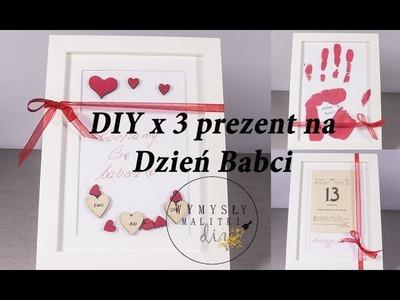 DIY prezent na Dzień Babci #dzieńbabci #diy. 3 sposoby na ramkę dla babci.