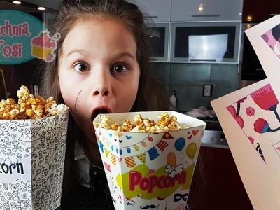 Popcorn karmelowy bez pieczenia i pudełko DIY :)