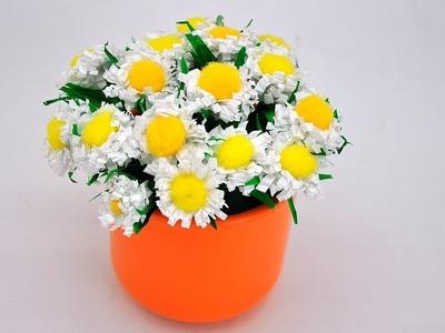 Jak zrobić kwiatki z papierowego sznurka # How to make flowers out of paper string DIY