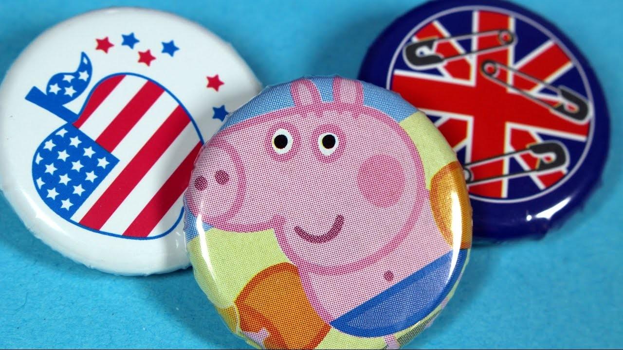 Znaczki Świnka Peppa. Peppa Pig - Badge It! - DIY - domowa produkcja znaczków - Bandai