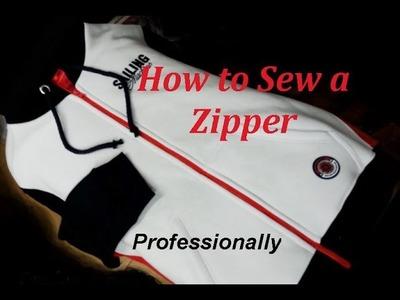✂ How  to Sew a Zipper. Sweatshirt.  Sewing Course. ✂ Jak wszyć zamek błyskawiczny.ekspres do bluzy