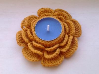 Jak zrobić świecznik na szydełku - Kwiat