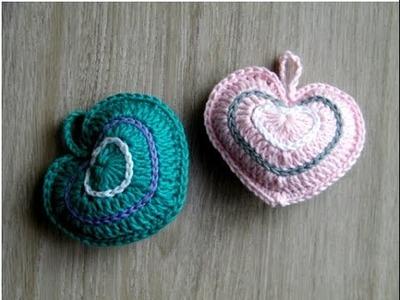 No 123# Serce 3d na szydełku - Heart 3d on crochet