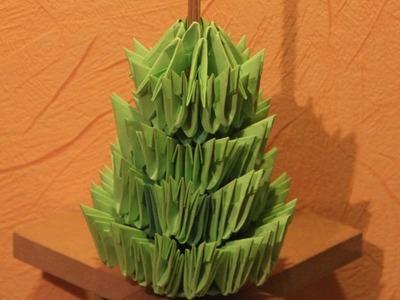#29 Choinka - Origami modułowe - 2 w 1 ;)