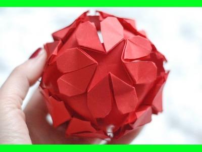 """Kula """"Serce"""" Origami. Origami """"Heart"""" Ball"""
