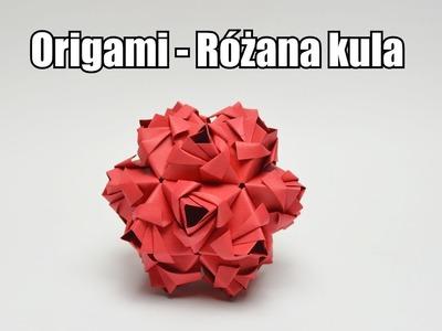 Origami - Różana kula