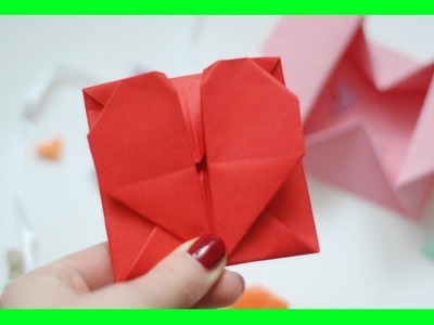 Serce - koperta origami. Origami heart envelope