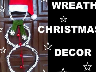 DIY wianki na drzwi ,dekoracje na Boże Narodzenie ,Snowman wreath