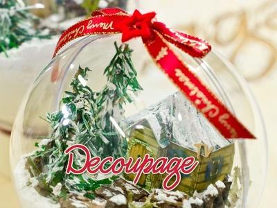 Decoupage - Bombka 3D - instrukcja krok po kroku