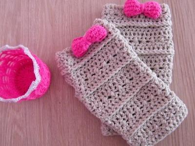 No 86# Mitenki na szydełku - Mitens on crochet