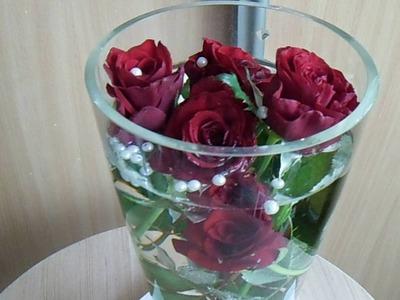 DIY Róże w wodzie