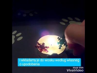 DIY jak ozdobić świeczkę