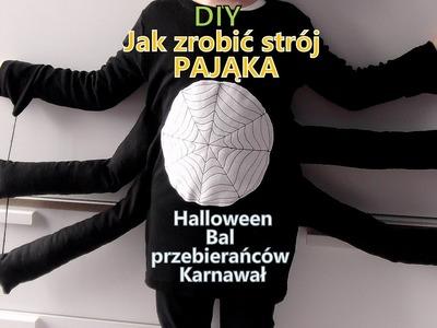 DIY Jak zrobić strój PAJĄKA Halloween bal karnawałowy