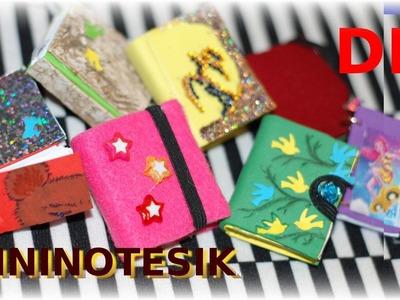 DIY jak zrobić mini notesiki.małe pamiętniki dla Barbie