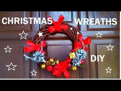 DIY wianki na drzwi  Boże Narodzenie  ,zimowe dekoracje