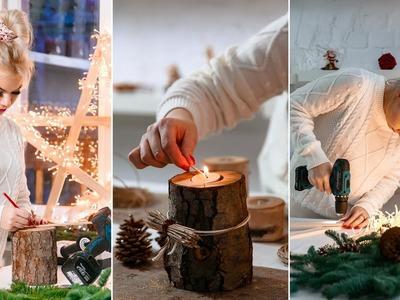 Drewniany Świecznik DIY