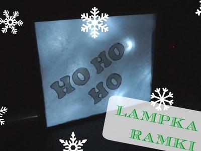 DIY Świąteczna lampka z ramki | DzienBezKawy