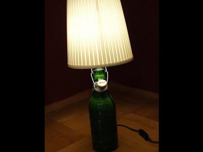 Lampka GROLSCH z butelki po piwie DIY