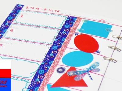 Ozdabianie kalendarza | planner tygodnia | washi tape i naklejki