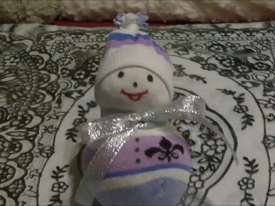 DIY snowman czyli skarpetkowy bałwanek