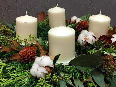 Sekunda dla Kwiatów - wianek adwentowy (floristic diy: advent wreath) S04 E02