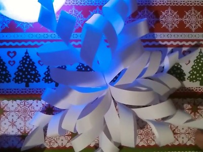 ♥|Śnieżka z papieru | Świąteczne DIY | ♥