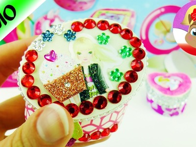 Puzderka na biżuterię DIY z naklejkami topmodel i diamencikami