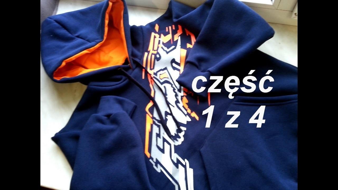 DIY Sweatshirt kangaroo pocket part 1.4 sewing course bluza kangurka cz 1.4 dwuigła
