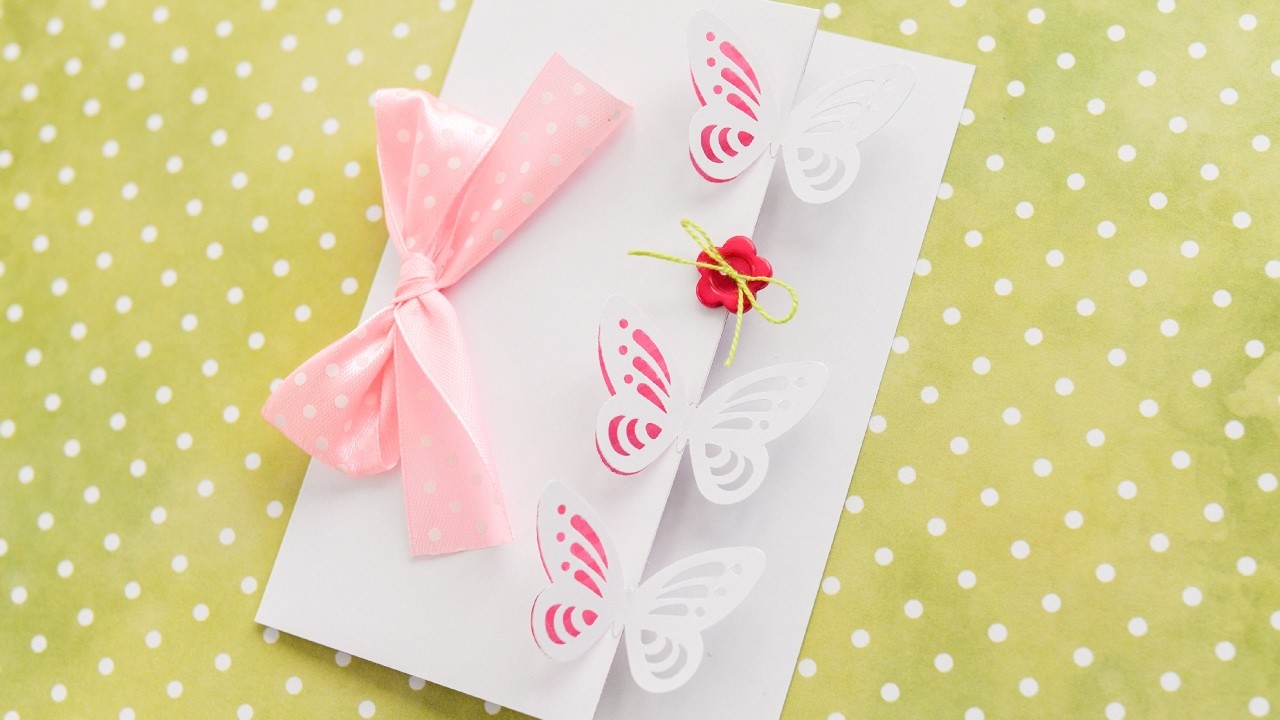 How To Make Greeting Card Butterflies Step By Step Diy Kartka