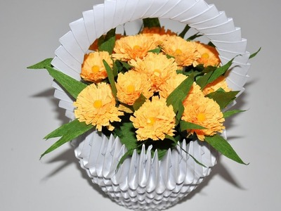 Kwiaty z bibuły do koszyczków # Crepe paper flowers DIY