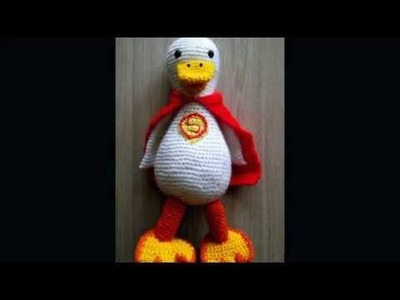 No 128# Gąska na szydełku superman- Goose crochet amigurumi PART 2-2