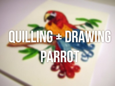 Quilling and drawing parrot time lapse. Papuga quilling plus rysowanie