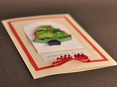 Quilling tutorial - kartka świąteczna1 - Boże Narodzenie