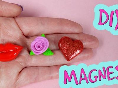 3 DIY Magnesy na Walentynki! Pomysły na prezenty na Walentynki. Wyroby z modeliny tutoriaL