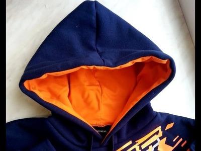 DIY Sweatshirt kangaroo hood part 3.4 sewing course bluza kangurka kaptur cz 3.4 dwuigła